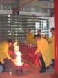 09. Pembakaran daftar nama peserta upacara